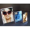 Présentoir 1 case de comptoir pour documents A4,A5 et 1/3 A4