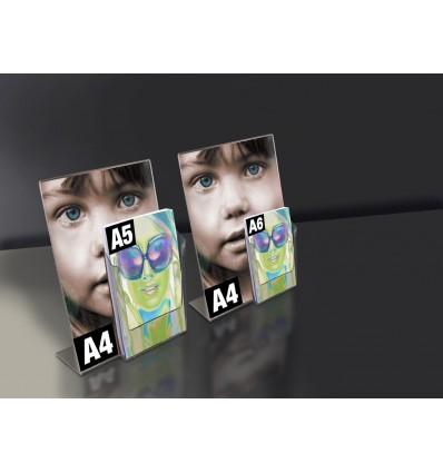 Porte visuel incliné A4 + présentoir