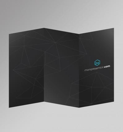 Pack impression Flyer 3 volets (A4 2 plis roulés)