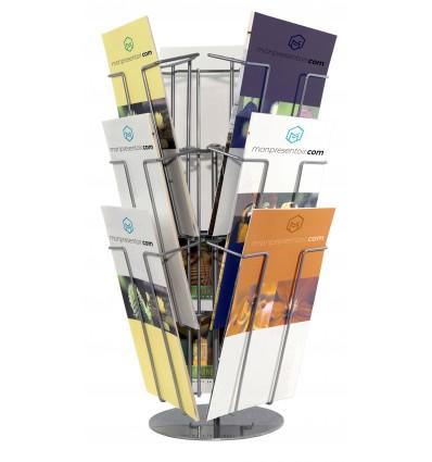 Porte brochures rotatif 9 bacs